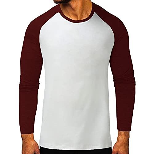 Binggong Maglione Uomo Henley Funky Maglietta Camicia da Uomo Maniche Lunga Tasca Camicette Frontale Hawaiana Maori Verticale