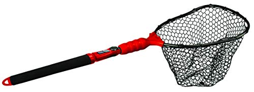 EGO S2 Slider Fishing Net, Ultimate Fishermen's Tool, Telescoping Handle, Replaceable Head, Salt & Freshwater, 2 Year Warranty, 18-36' Handle Rubber Mesh - Closeout 17-Inch Hoop - Closeout