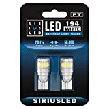 Trunk Lights - SIRIUSLED - FT- 194 912 Side Marker LED Light Car Interior, Map, Dome, Trunk, Backup Bulb High Power 3030 + 4014 SMD Super Bright Pack of 2 (White)