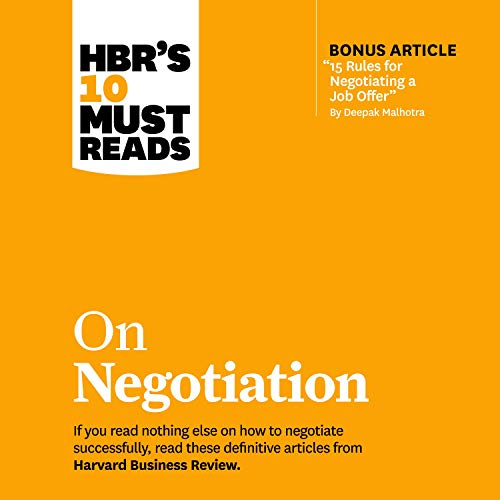 HBR's 10 Must Reads on Negotiation cover art