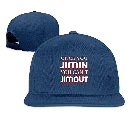 Broderick Tate Once You Jimin You Can't Jimout4 Men Women Sport Hat Custom Cap Baseball Mesh Hat Design Hatnavy