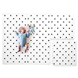 Extra Large Baby Foam Play Mat - 4FT x 6FT Non-Toxic Puzzle Floor Mat for Kids & Toddlers (White with Black Cross)
