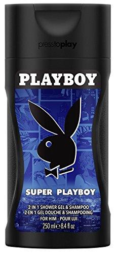 Playboy Super men Shower Gel 250 ml, 1er Pack (1 x 250 ml)