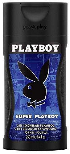 Playboy Super men Shower Gel 250 ml, 1er Pack (1 x 250 ml)