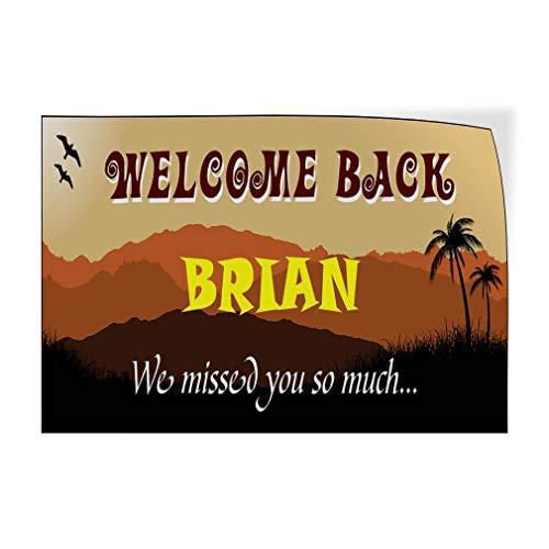 Jeartyca Calcomanías de vinilo para puerta con texto en inglés 'Welcome Back' (20 x 30 cm), color marrón