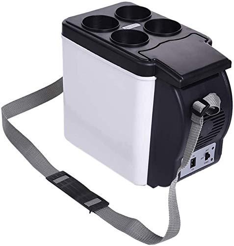 Muebles 6 L Mini refrigerador portátil, alimentos para bebidas para el cuidado de la comida para el campamento de viaje, refrigerador de coche compacto, refrigerador termoeléctrico DC 12V Jialele