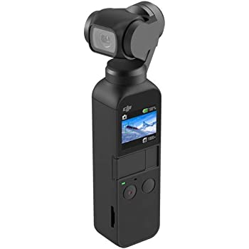 DJI Osmo Pocket Handheld 3 Axis Gimbal Stabilizer with integrated Camera, Attachable to Smartphone, Android (USB-C), iPhone (Renewed)