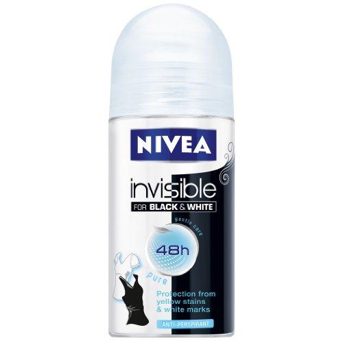 Nivea Pure invisible para blanco y negro antitranspirante Desodorante Roll-On 50ml