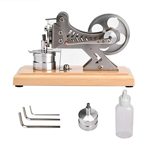 Yosoo スターリングエンジン 低温モータモデル スチールモーター Stirling Engine 知育玩具 蒸気教育 実験科学 物理実験 自由研究 (木製)