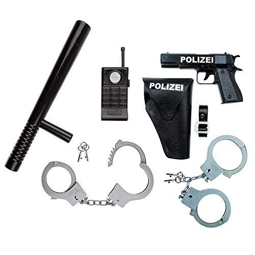 Idena 8040007 – Juego de policía, pistola, cabestro y esp