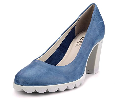 The Flexx Diplomatic Zapato de tacón Mujer Azul Vaquero 36 EU