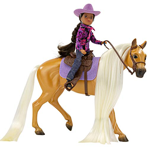 Breyer Horses Freedom Series Horse and Western Rider Set | Charm & Gabi | Horse and Rider Set | Horse Toy | 9.75″ x 7″ | 1:12 Scale | Model #61146