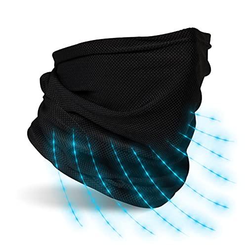 AktivPlus® Premium Schlauchschal Herren und Damen schwarz - Bandana Mundschutz Multifunktionstuch Gesichtsmaske Schlauchtuch Halstuch für Motorrad - elastisch und atmungsaktiv