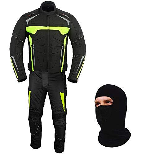 Trajes de moto – Armadura de motocicleta Bicicleta Rider 2 piezas Racing impermeable Deporte Traje para todo tipo de clima desgaste CE Armour para hombres y niños