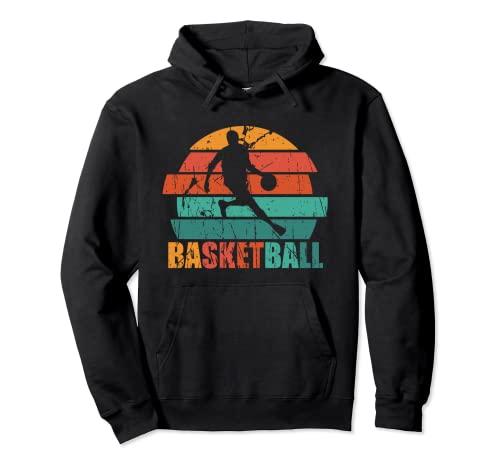 Camiseta de Baloncesto Retro Vintage Regalo Jugador de Balon Sudadera con Capucha