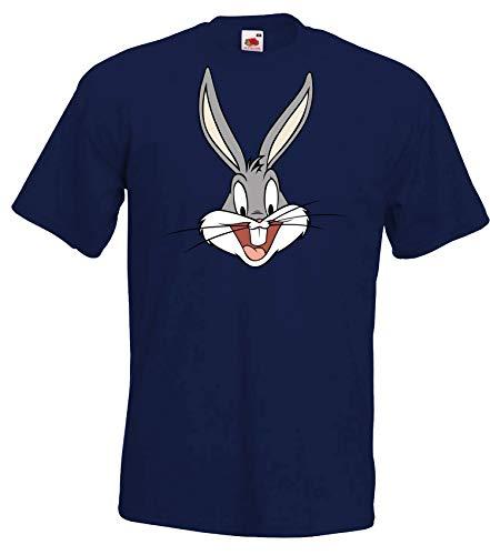 Youth Designz Herren T-Shirt Modell Bunny Bugs, Navyblau, L