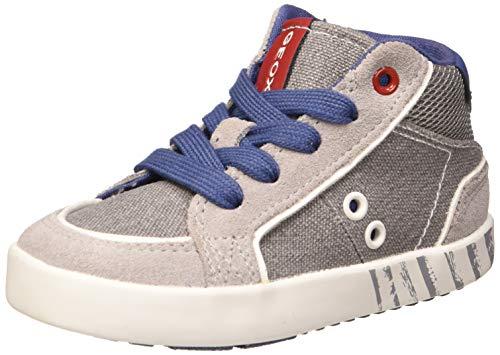 Geox Baby-Jungen B Kilwi Boy E Sneaker, Grau (Grey/Avio C0493), 24 EU