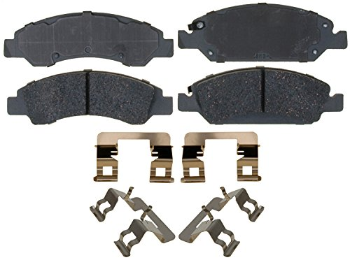 ACDelco Silver 14D1363CH Ceramic Front Disc Brake Pad Set with Hardware