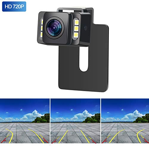 Yakry HD 960P Backup Camera for Car/Truck/SUV Rear View Reversing Intelligent Dynamic Trajectory Camera with IP 69K Waterproof Mount Hidden Guide Line ON/OFF backup Cameras Vehicle