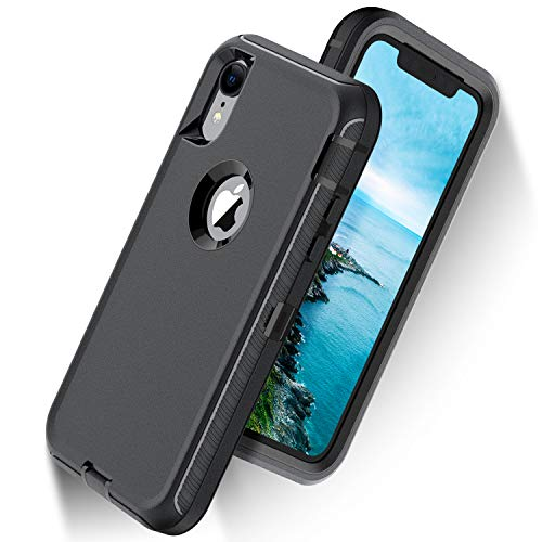 ORIbox Defense Case for iPhone XR, Shockproof Anti-Fall Protective case, Update Strong Protection, Sports Style, High-Class Rubber Black (iPhone XR Case)