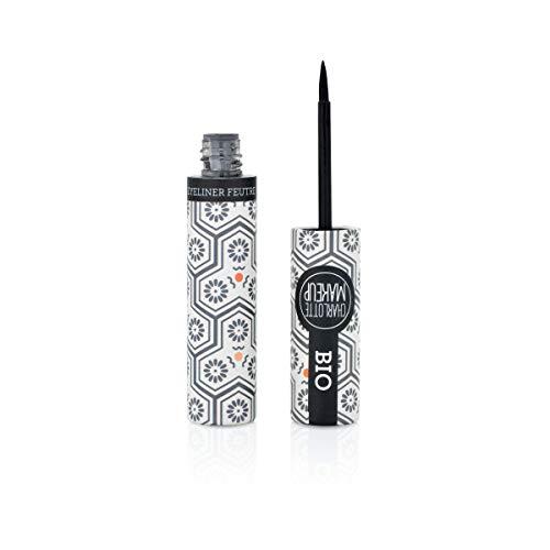 CHARLOTTE MAKE UP - Les Yeux - Eye Liner Feutre BIO - Noir - Intensifier le Regard - 4ml