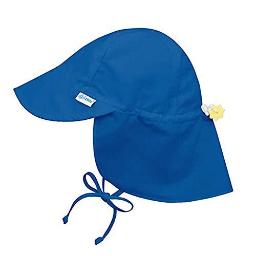 SJYM Sombrero para el Sol de Verano Niños Cuello al Aire Libre Cubierta para los oídos Protección contra los Rayos UV Gorras de Playa Gorra con Solapa de natación para, Azul Marino, 0-6M (36-44cm)