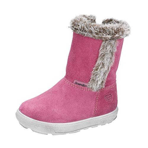 RICOSTA Kinder Winterstiefel USKY von Pepino, Weite: Mittel (WMS),wasserfest, Outdoor-Kinderschuhe lammfell-Stiefel warm,Fuchsia,28 EU / 10 Child UK