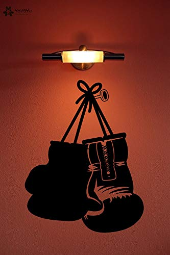 Wandtattoo Boxhandschuhe Vinyl Wandaufkleber Abnehmbare Kunstwandhauptdekor Jungen Schlafzimmer Geschenke Design Aufkleber 57 * 74 CM