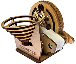 Solarbotics Marble Machine Kit, A Buildable Battery Powered Desktop Marble Run