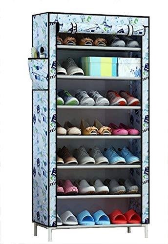 Wanforjewellery 7 vouwkast schoenenrek, stofdichte stoffen schoenenkast schoenen, 30(L)*60(W)*126cm (H)