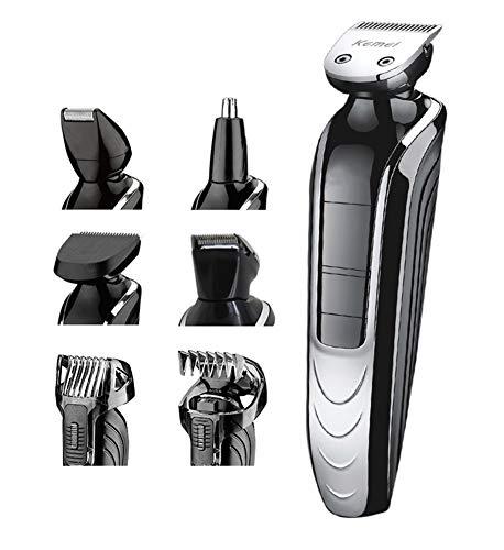 Coupe de coiffure Kit, 5-en-1 Dame lavable rasoir nez tondeuse tondeuse à cheveux électrique rasoir LED affichage approprié pour les hommes, les femmes et la famille