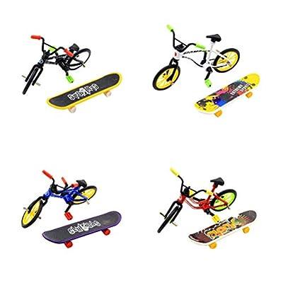 Toyvian 1 Juego de patinetas de Mini patinetas de Juguete Modelo de Tablero de Dedos Skate Park para niños niños y niñas (Color Aleatorio) de Toyvian