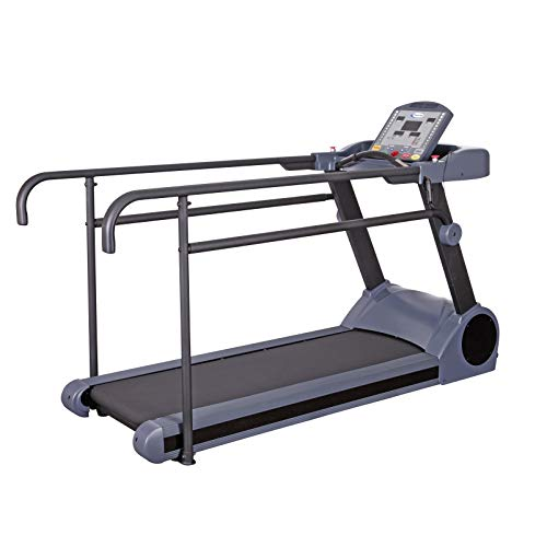 HCI Fitness PhysioMill Rehabilitation Walking Treadmill with Low Step-Up and Long Handrails for Recovery - Max User 500 lbs