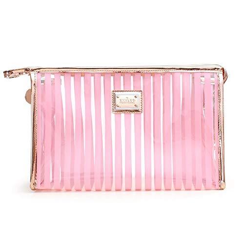 Pc Transparent Transparent imperméable de Sac de Voyage de Cas de cosmétiques (Color : Pink)
