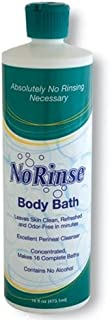 No-Rinse Body Bath, 16 fl oz - Leaves Skin Clean, Refreshed and Odor-Free (Pack of 12) - Makes 16 Complete Baths