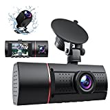 LIDOFIGO Dash Cam, 3 Channel Dash Cam Front Inside and Rear, 1080P Dashcam for Car Camera Recorder with Loop Recording, G-Sensor, Night Vision,170°Wide Angle, Parking Monitor (Black)