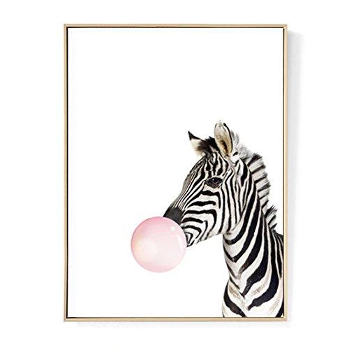TOOGOO Kawaii Animal Cebra Poster Impresion Arte Pintura