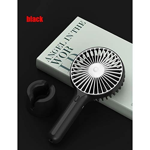 Ventilatoren Mini, kleine ventilator, draagbare buitenventilator, draagbare elektrische USB, batterij 4 modi voor thuiskantoor, slaapkamer en reizen buitenshuis,Black