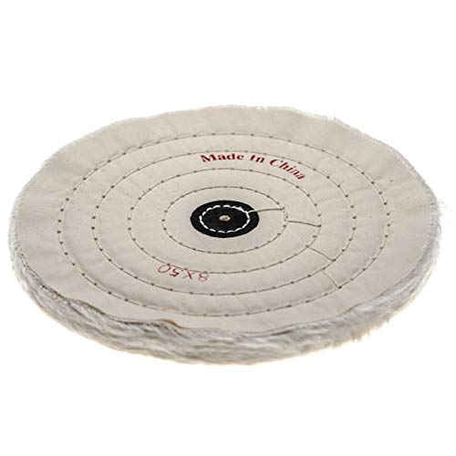 vhbw Disco para Todas Las amoladoras angulares comunes, taladros - Almohadillas de Repuesto con diámetro de 19,8 cm, Color Crema, algodón