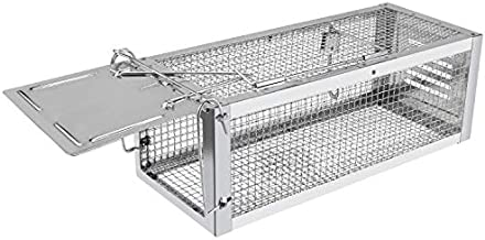RatzFatz Mouse Trap Humane Live Cage, Catch and Release Mice, Rats, Chipmunks, Squirrels, Hamsters and Other Rodents, Hook Design