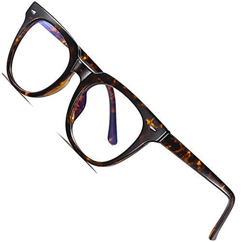 Joopin Gafas Luz Azul para Ordenador Gafas de Protección Anti Fatiga UV para Hombres y Mujeres Lentes con Filtro de Luz Azul Leopardo