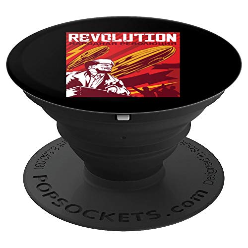 Lenin Vintage Revolution Poster Zeppelin Air Balloon PopSockets Supporto e Impugnatura per Smartphone e Tablet
