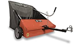 """Your purchase includes One Agri-Fab 44-Inch Lawn Sweeper, 45-0492 model Lawn Sweeper dimensions: 78"""" L x 55"""" W x 52"""" H   Carton Dimensions: 54.1"""" L x 18"""" W x 19.5"""" H   Brush to Wheel ratio: 5.6:1   Hooper Capacity: 25 Cu. Ft.   Wheel dimensions: 12"""" ..."""