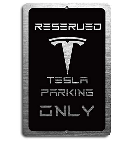 Tesla Car Reserved Parking only Aluminum Sign
