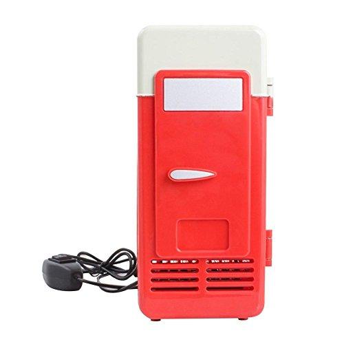 Seasaleshop Mini-USB-koelkast, minibar, koelbox, 5 V, voor auto, hotel, warmhoudbox rood