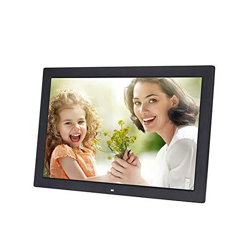 Marco de foto digital 13 pulgadas marco de fotos digital 1280 * 800 píxeles de pantalla LED de alta resolución HD 1080p de reproducción de vídeo Auto On / Off Timer Incluye control remoto de 2 colores