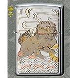 zippoライター 電鋳『伝統和柄』シリーズジッポー 獅子