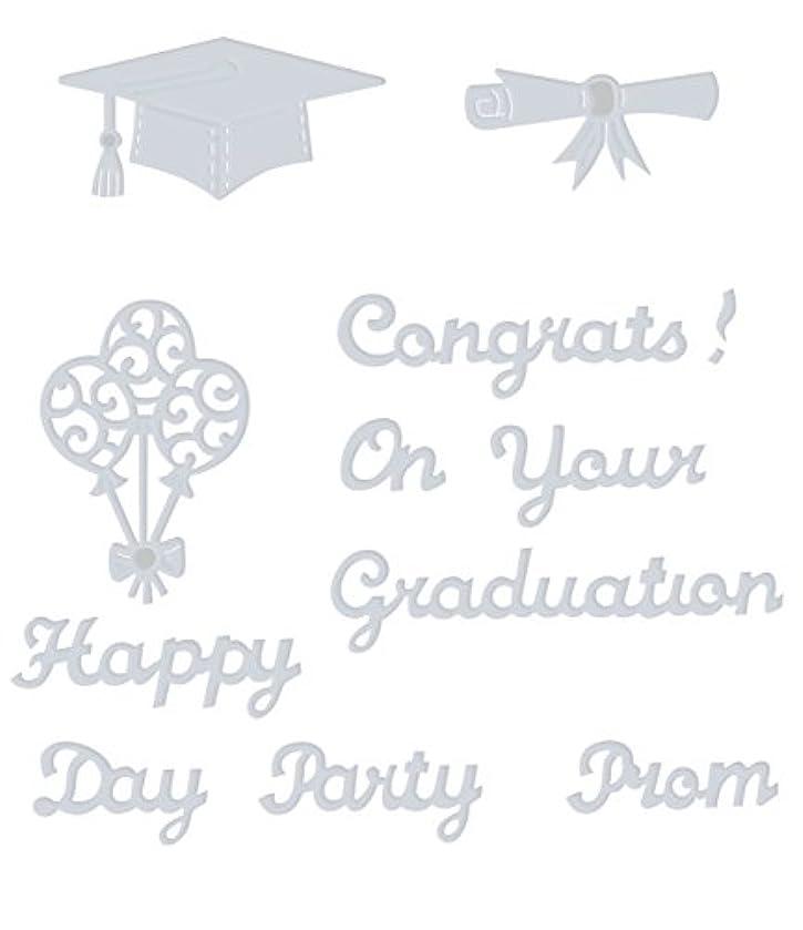 Sweet Dixie Happy Graduation Day Die, Grey, Medium