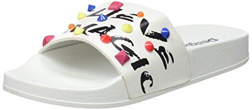 Desigual Damen Shoes_Slide Candy Peeptoe Sandalen, Weiß (1000 Blanco), 37 EU