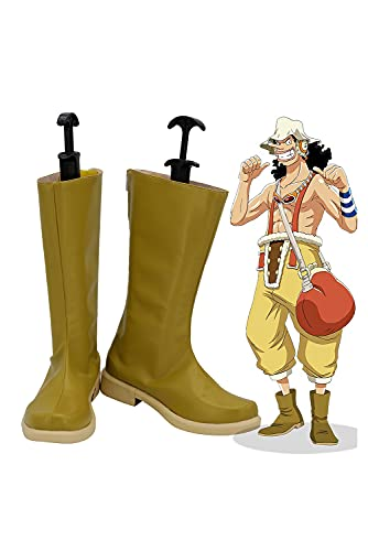 Verycos Adult Men's Usopp Cosplay Boots Anime Shoes Cosplay Props for...
